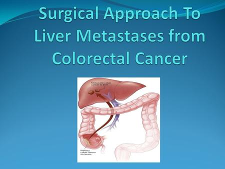 The latest changes in surgery of liver metastatic colorectal cancer. Preoperative evaluation of the patient with hepatic metastases Treatment of liver.
