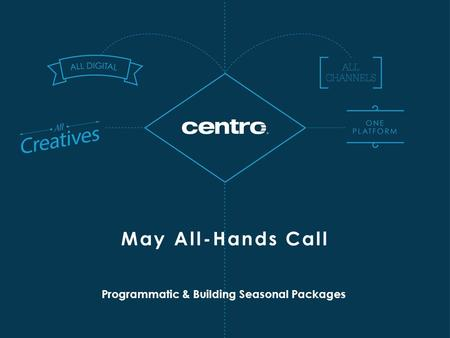 Programmatic & Building Seasonal Packages May All-Hands Call.