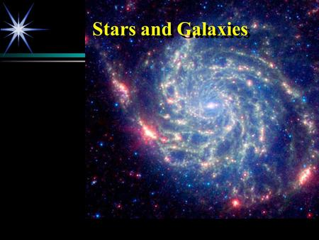 Stars and Galaxies. What are we going to cover?  Our Place in the Universe  The Electromagnetic Spectrum  Classifying Stars  Classifying Galaxies.