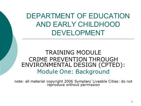 early childhood education training modules pdf