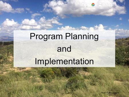 Photo credit: L. Barnett Program Planning and Implementation.