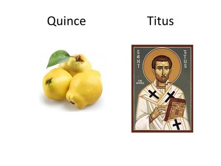 Quince Titus. Crete Gospel Truth is Lived Truth.