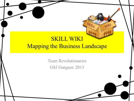 SKILL WIKI Mapping the Business Landscape Team Revolutionaries GSJ Gurgaon 2013.