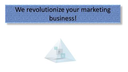 We revolutionize your marketing business!. How can marketing at events deliver what we hoped for ? How can we change valuable time and painful effort.
