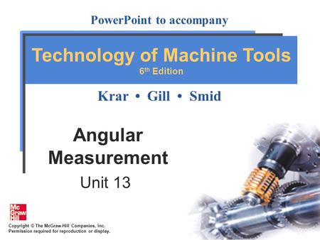 Angular Measurement Unit 13.