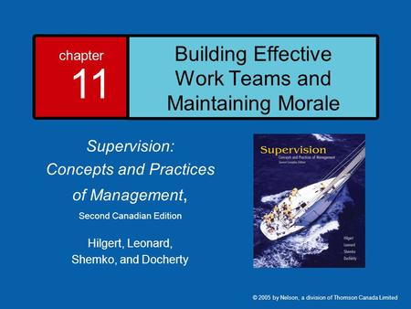 Building Effective Work Teams and Maintaining Morale