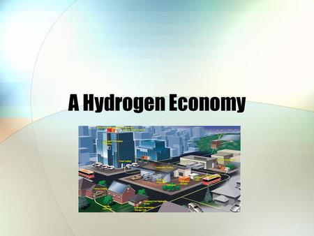 A Hydrogen Economy. Agenda A Hydrogen Vision of the Future Hydrogen Systems Producing Hydrogen Storing and Transporting Hydrogen Hydrogen Fueled Transport.
