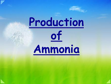 Production of Ammonia Aims Explain the conditions in which NO 2 can be formed Describe the Ostwald process.
