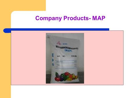 Company Products- MAP. Company Products - Potash Potash denotes a variety of mined and manufactured salts, all containing the element potassium in water-soluble.
