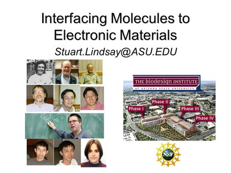 Interfacing Molecules to Electronic Materials.