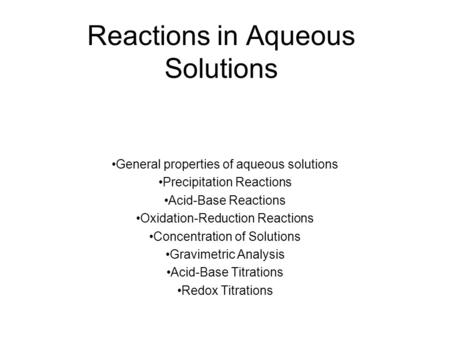 Worksheets Reactions In Aqueous Solutions Worksheet 1 chapter 8 aqueous solutions 2 parts of l solution reactions in general properties precipitation acid base oxidation