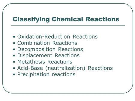 Redox metathesis reactions