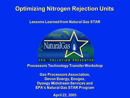 Optimizing Nitrogen Rejection Units