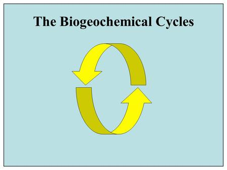 The Biogeochemical Cycles. © 2003 John Wiley and Sons Publishers Idealized diagram of the geologic cycle, which includes the tectonic, hydrologic, rock.
