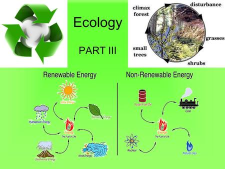 Ecology PART III. Recycling Matter Lesson Objectives Define biogeochemical cycles. Describe the water cycle and its processes. Give an overview of the.