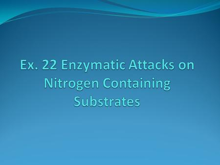 "Enzymes that attack ""N"" substrates 1. Urease 2. Gelatinase 3. Nitrate Reductase."