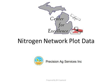 Nitrogen Network Plot Data Prepared By Bill Copeland.