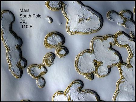 Copyright © 2010 Pearson Education, Inc. Mars South Pole C0 2 -110 F.