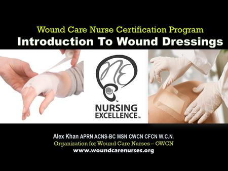 A licensed nurse who successfully completed specialized skills training in Wound Management. (OWCN-2010)