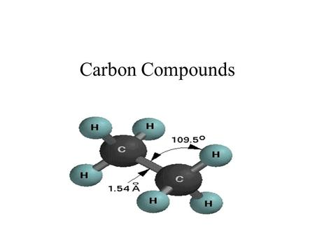 Carbon Compounds.. Saturated Hydrocarbons A Hydrocarbon is an organic compound that contains only the elements hydrogen and carbon. In a saturated hydrocarbon,