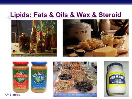 AP Biology Lipids: Fats & Oils & Wax & Steroid AP Biology Lipids  Lipids are composed of C, H, O  4 groups:  fats  oils  waxes  steroids  Do not.
