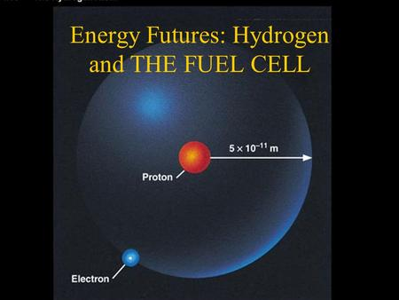 "Energy Futures: Hydrogen and THE FUEL CELL. Sources of information: –Heliocentris ""Energy through Hydrogen"" Research notes –Thames and Kosmos ""Fuel Cell."