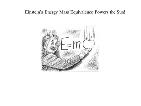 Einstein's Energy Mass Equivalence Powers the Sun!