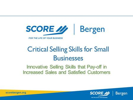 Critical Selling Skills for Small Businesses Innovative Selling Skills that Pay-off in Increased Sales and Satisfied Customers.