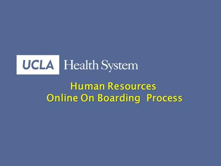 1 Human Resources Human Resources Online On Boarding Process.