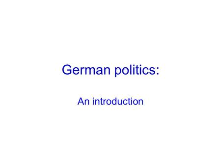 an introduction to the history of the federal republic of germany This new edition of a best-selling history of germany, originally published in 1976 ,  germany: a short history provides a thorough introduction to german history   annotated bibliography, west germany: the federal republic of germany.