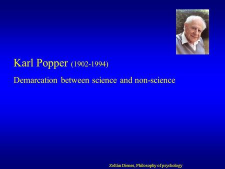 demarcation in philosophy of science How do you tell science from non-science karl popper  here he discusses the  important issue of demarcation with nigel warburton listen.