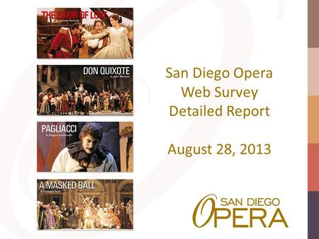 San Diego Opera Web Survey Detailed Report August 28, 2013.