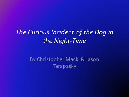 """The Curious Incident of the Dog in the Nighttime"" by Mark Haddon Essay Sample"