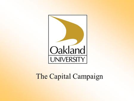 The Capital Campaign. A Campaign Is An organized, intensive fundraising effort to secure gifts and pledges – beyond the existing level – for clearly identified.