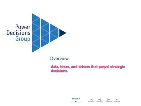 Websit e Websit e Overview data, ideas, and drivers that propel strategic decisions.
