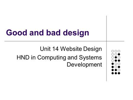 Unit 14 Website Design HND in Computing and Systems Development