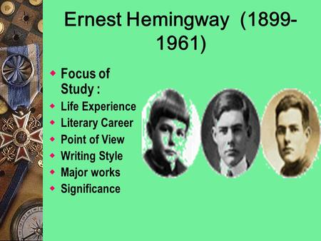 a biography of the life and literary works of ernest hemingway American author ernest hemingway used the experiences from his rich and colorful life to inform his novels and short stories learn about how life and major works.