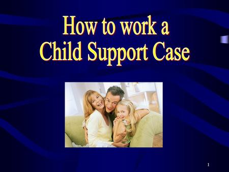 1. 2 Objectives of this course To be able to identify a Child Support type of case. To be able to recognize the forms used to work a Child Support type.