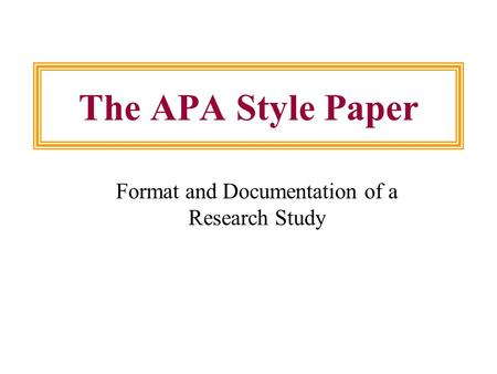 rules writing apa style paper