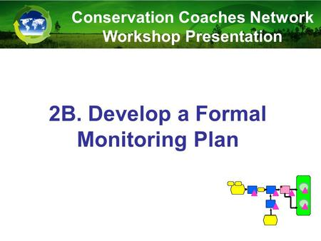 2B. Develop a Formal Monitoring Plan Conservation Coaches Network Workshop Presentation.