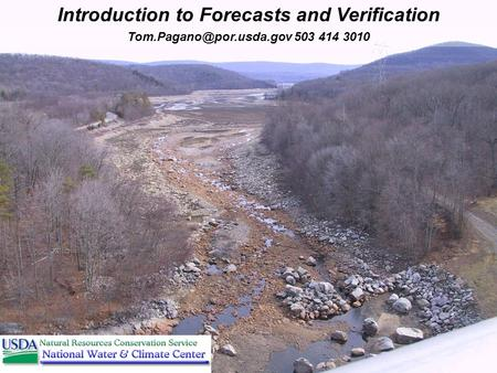 1 of 30 503 414 3010 Introduction to Forecasts and Verification.