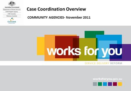 DRAFT 11 Case Coordination Overview COMMUNITY AGENCIES- November 2011.