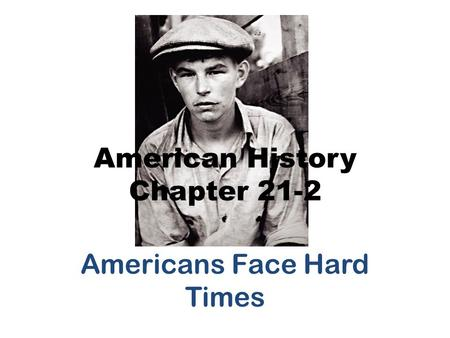 American History Chapter 21-2