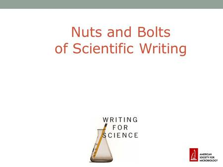 Module: 9 - Training in Scientific Writing
