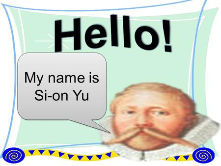 My name is Si-on Yu. What is your favorite sport?  My favorite sport is SOCCER.