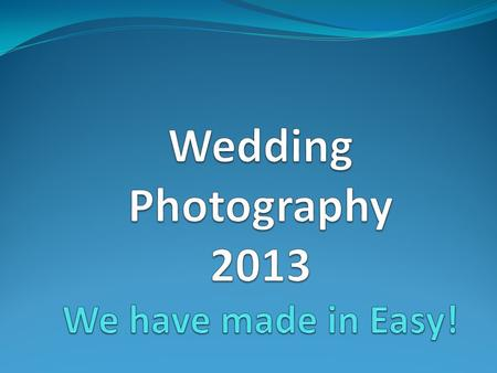 $250.00 per hour for as long as you need our services at your wedding!