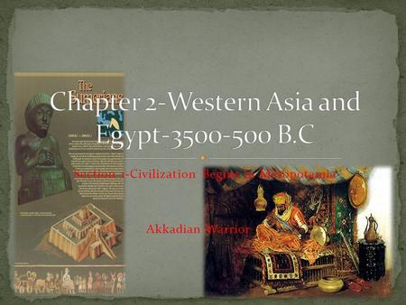 Chapter 2-Western Asia and Egypt B.C