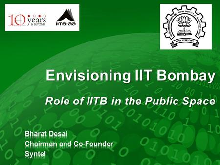 Envisioning IIT Bombay Role of IITB in the Public Space.