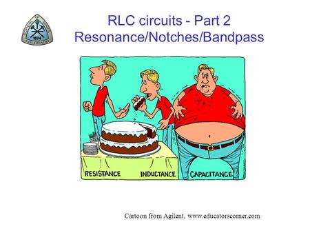 RLC circuits - Part 2 Resonance/Notches/Bandpass Cartoon from Agilent, www.educatorscorner.com.