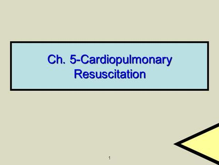 1 Ch. 5-Cardiopulmonary Resuscitation. 2 5.2 Basic Life Support Sequence Determining Responsiveness Determining Responsiveness Activating the EMS System.